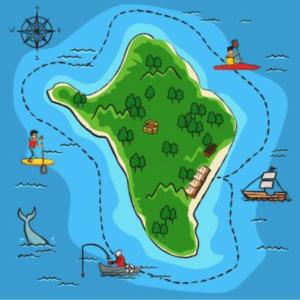 岡山県くじら島の地図
