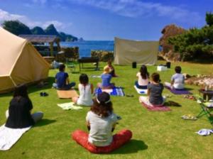 岡山県くじら島キャンプ場