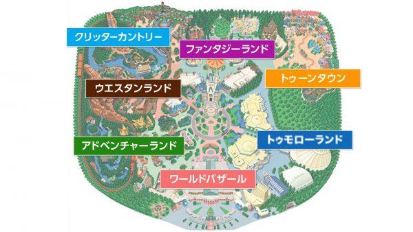 ディズニーランドマップ